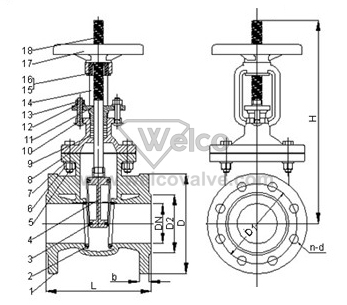 Rising Stem Globe Valve Diagram