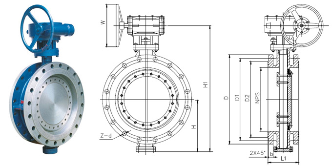 Flanged Triple Eccentric Butterfly Valve China Valve